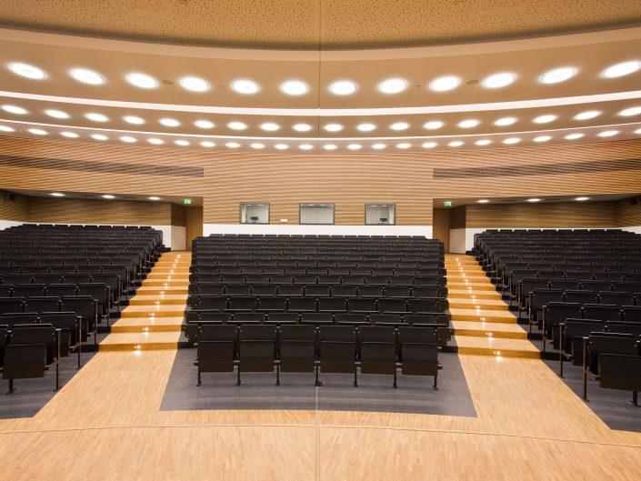 Uni Leipzig Mensa, Hörsäle und Bibliothek