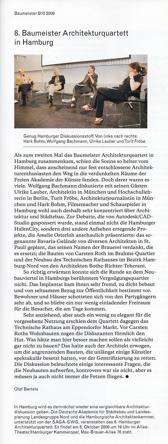 Baumeister Architekturquartett. Hamburg