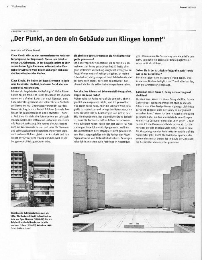 Klaus Kinold. Ausstellung im Architekturmuseum München