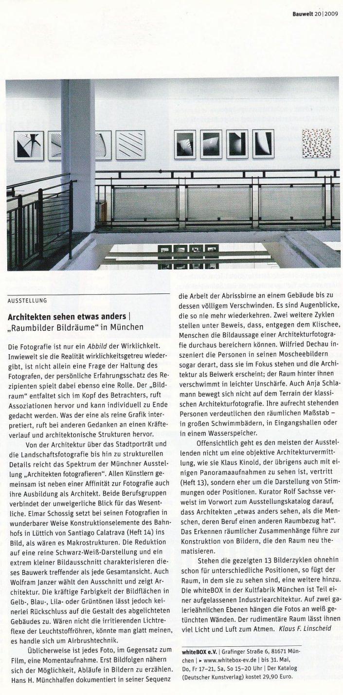 Raumbilder. Ausstellung zur Architekturfotografie in München