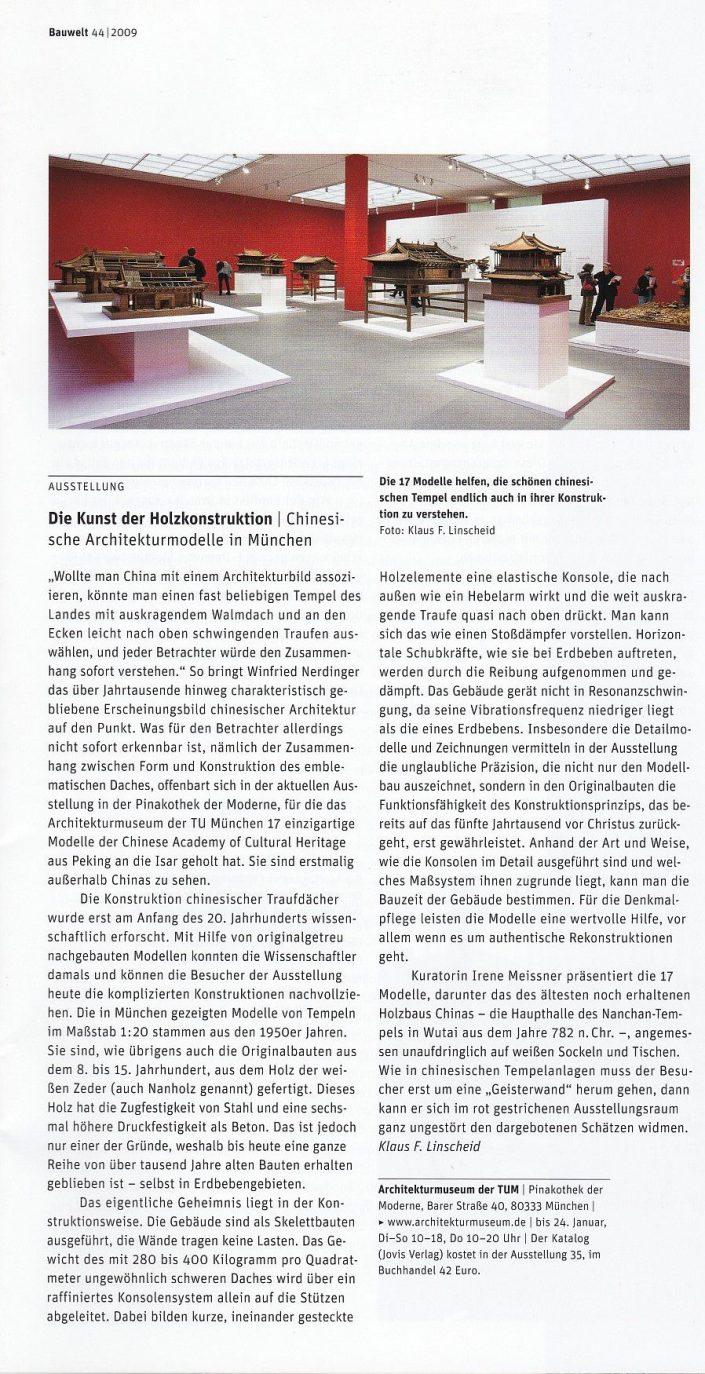Die Kunst der Holzkonstruktion. Ausstellung im Architekturmuseum München