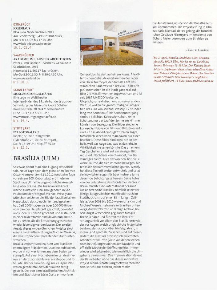Brasilia. Ausstellung im Stadthaus Ulm