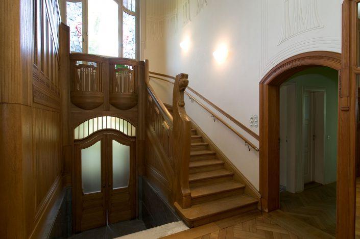 Paul Möbius: Haus Paul-Michael-Strasse, Treppenhaus