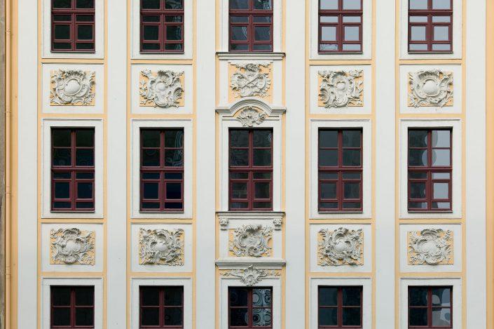Romanushaus Leipzig, Fassade