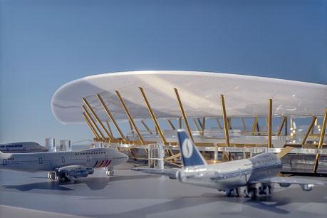 Entwurfsmodell-Flughafen